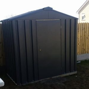 7ft-x-4ft metal shed anthracite